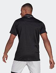 adidas Performance - CLUB RIB POLO SHIRT - kortærmede - black - 3