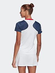 adidas Performance - Club Tennis Tee - t-shirts - white - 3