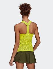 adidas Performance - HEAT.RDY Primeblue Tennis Y-Tank Top - linnen - yellow - 3