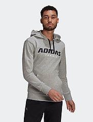 adidas Performance - GRAPHIC HOODIE - bluzy z kapturem - grey - 0
