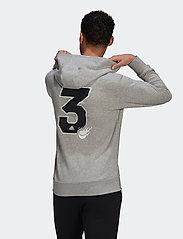 adidas Performance - GRAPHIC HOODIE - bluzy z kapturem - grey - 3
