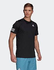 adidas Performance - CLUB 3-STRIPE T-SHIRT - t-shirts - black - 0