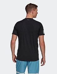 adidas Performance - CLUB 3-STRIPE T-SHIRT - t-shirts - black - 3