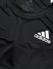 adidas Performance - CLUB 3-STRIPE T-SHIRT - t-shirts - black - 4
