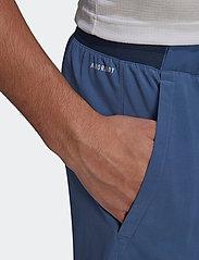 adidas Performance - CLUB STRETCH WOVEN SHORTS - trainingsshorts - blue - 4