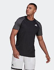 adidas Performance - CLUB T-SHIRT - t-shirts - black - 0