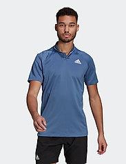 adidas Performance - CLUB RIB POLO SHIRT - kortærmede - blue - 0