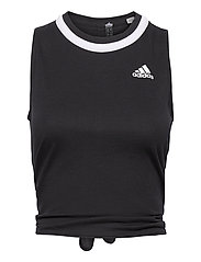 Club Knotted Tennis Tank Top - BLACK