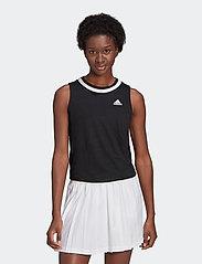 adidas Performance - Club Knotted Tennis Tank Top - linnen - black - 0