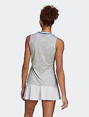 adidas Performance - Tennis Primeblue Printed Match Tank Top - linnen - white - 4