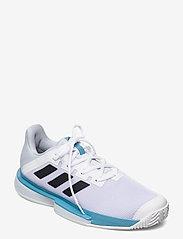 adidas Performance - SOLEMATCH BOUNCE M - ketsjersportsko - white - 0