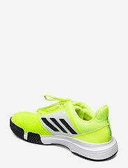 adidas Performance - COURTJAM BOUNCE M - ketsjersportsko - yellow - 2
