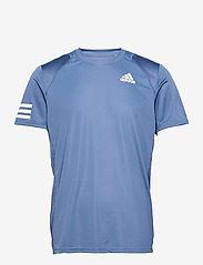 adidas Performance - CLUB 3-STRIPE T-SHIRT - t-shirts - blue - 1