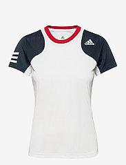 adidas Performance - Club Tennis Tee - t-shirts - white - 1