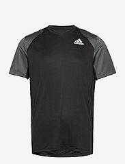 adidas Performance - CLUB T-SHIRT - t-shirts - black - 1