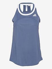 adidas Performance - Club Tennis Tank Top - linnen - blue - 1