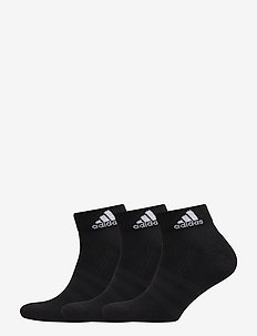 3-STR PERF ANKLE SOCKS 3-PACK - BLACK