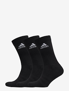 3-STRIPES PERFORMANCE CREW SOCKS 3-PACK - BLACK