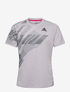 FREELIFT PRINTED TEE HEAT.RDY - topy sportowe - grey