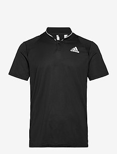 CLUB RIB POLO SHIRT - kurzärmelig - black