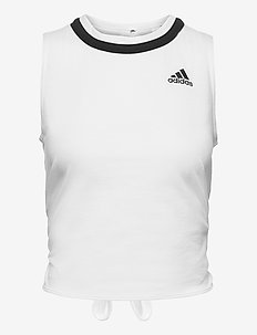 Club Knotted Tennis Tank Top - linnen - white