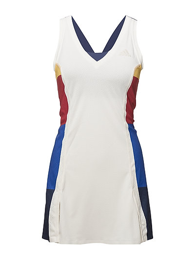 NY COLOR BLOCK DRESS - 030/CHALK WHITE