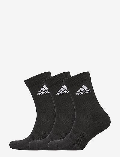 Cushioned Crew Socks 3 Pairs - strømper - black/black/white