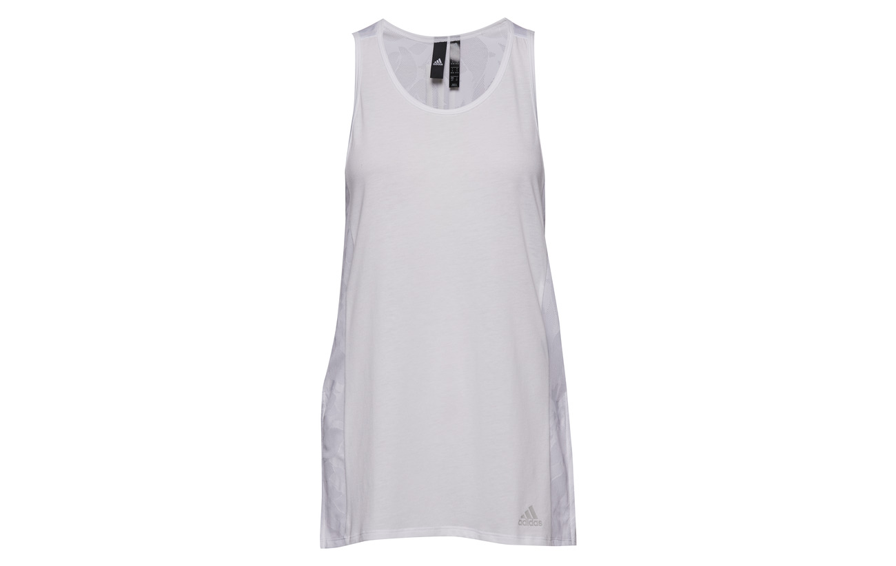 Mesh White Adidas W Id Recycledpolyester 50 Coton Viscose Tank 25 aPP6Sg