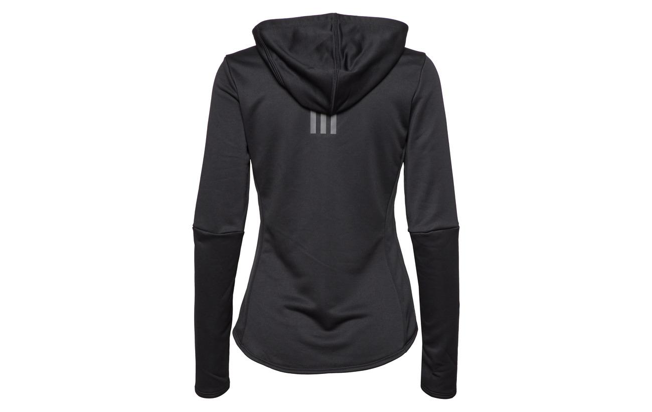 100 Otr Recyclé Polyester W Adidas Black Hoodie 4Axq0f1