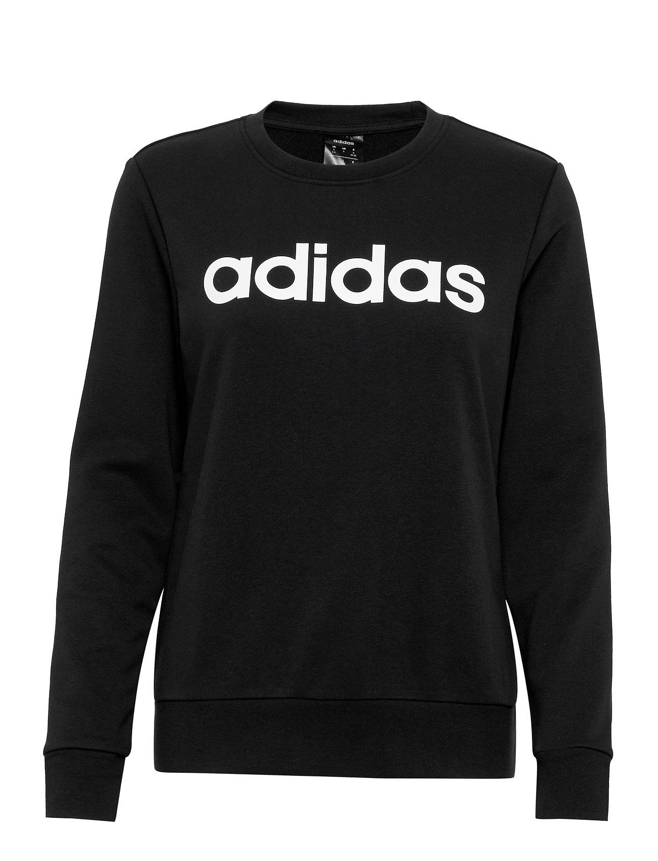 adidas Performance W E LIN SWEAT - BLACK/WHITE