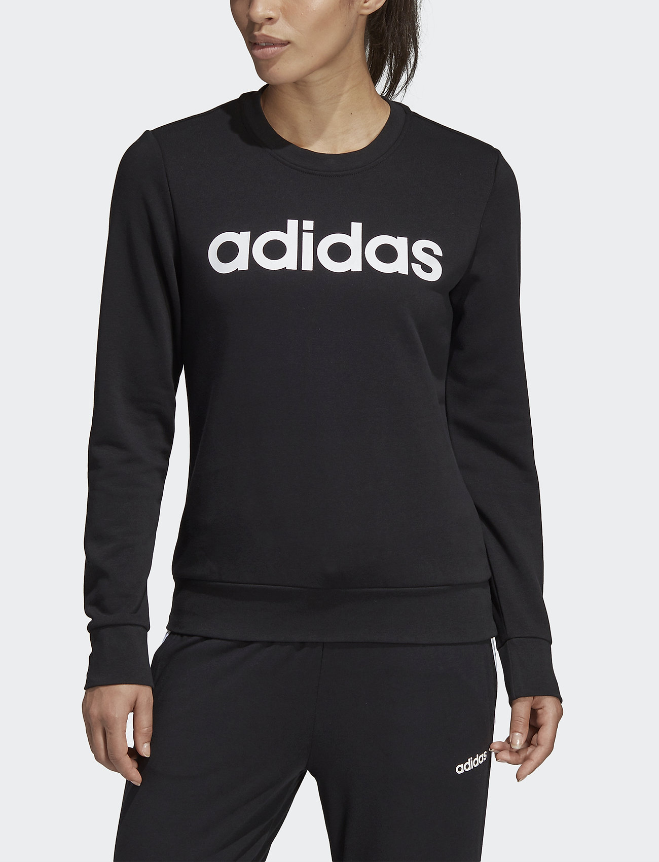 adidas Performance - W E LIN SWEAT - svetarit - black/white - 0