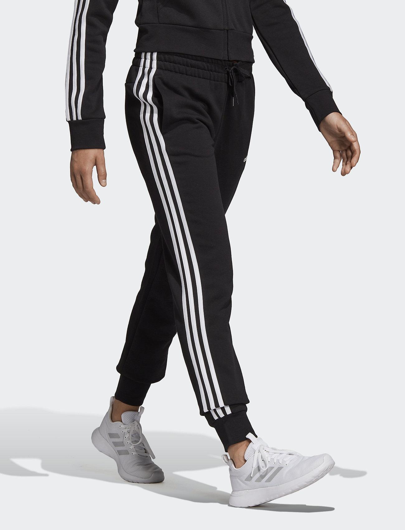 adidas Performance - Essentials 3-Stripes Pants W - trainingsbroek - black/white - 0