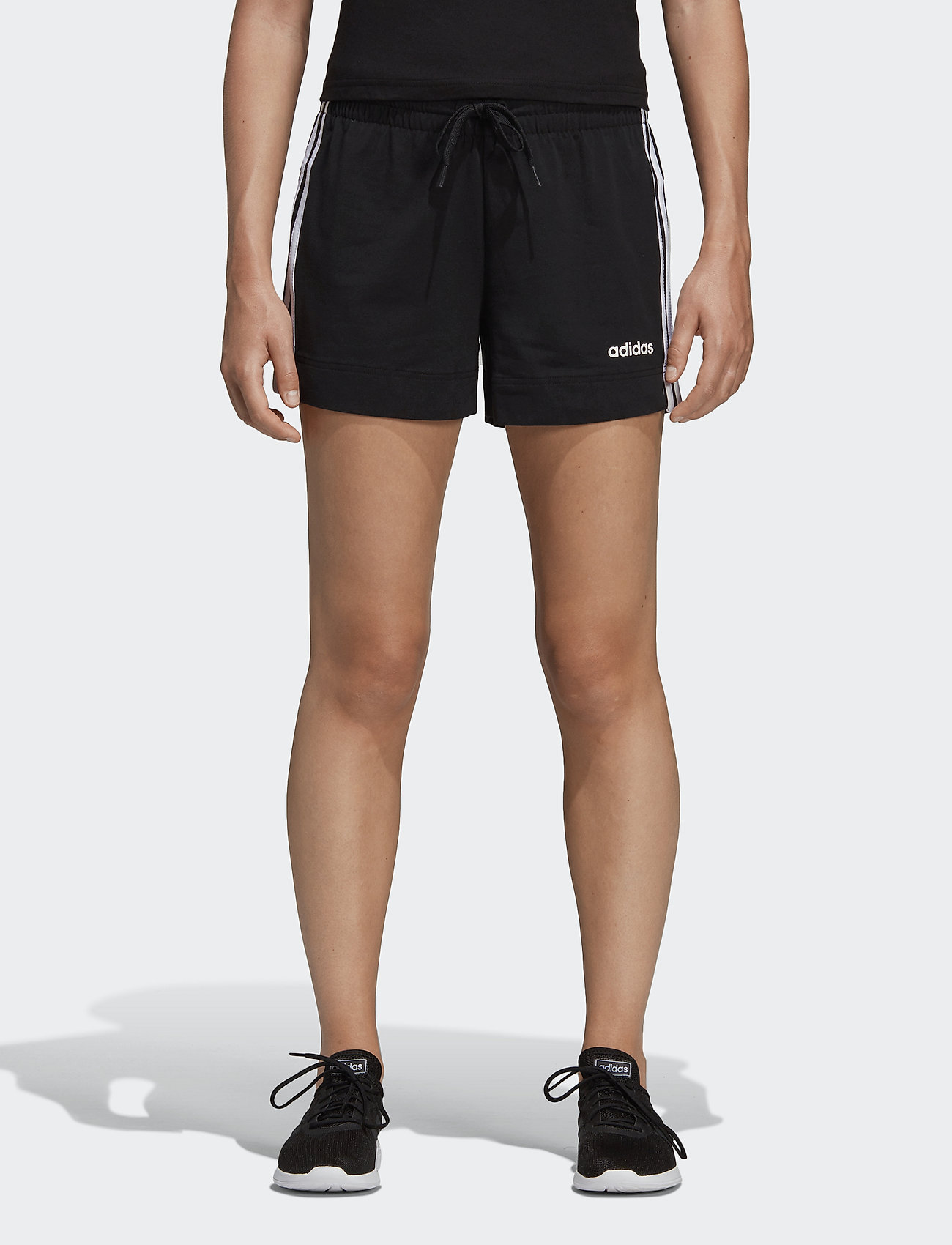 adidas Performance - Essentials 3-Stripes Shorts W - træningsshorts - black/white - 0