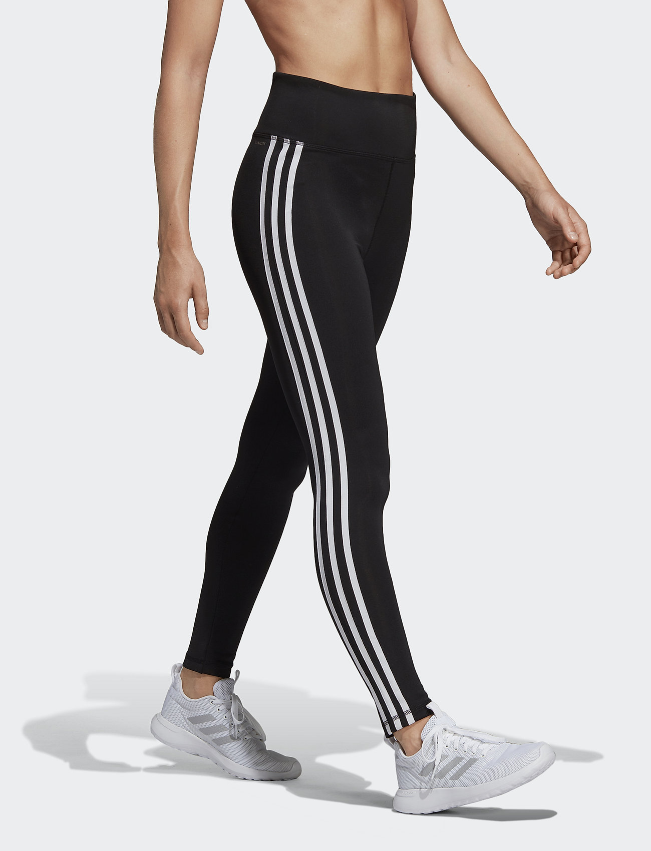 adidas Performance - W D2M 3S HR LT - leggings - black/white - 0