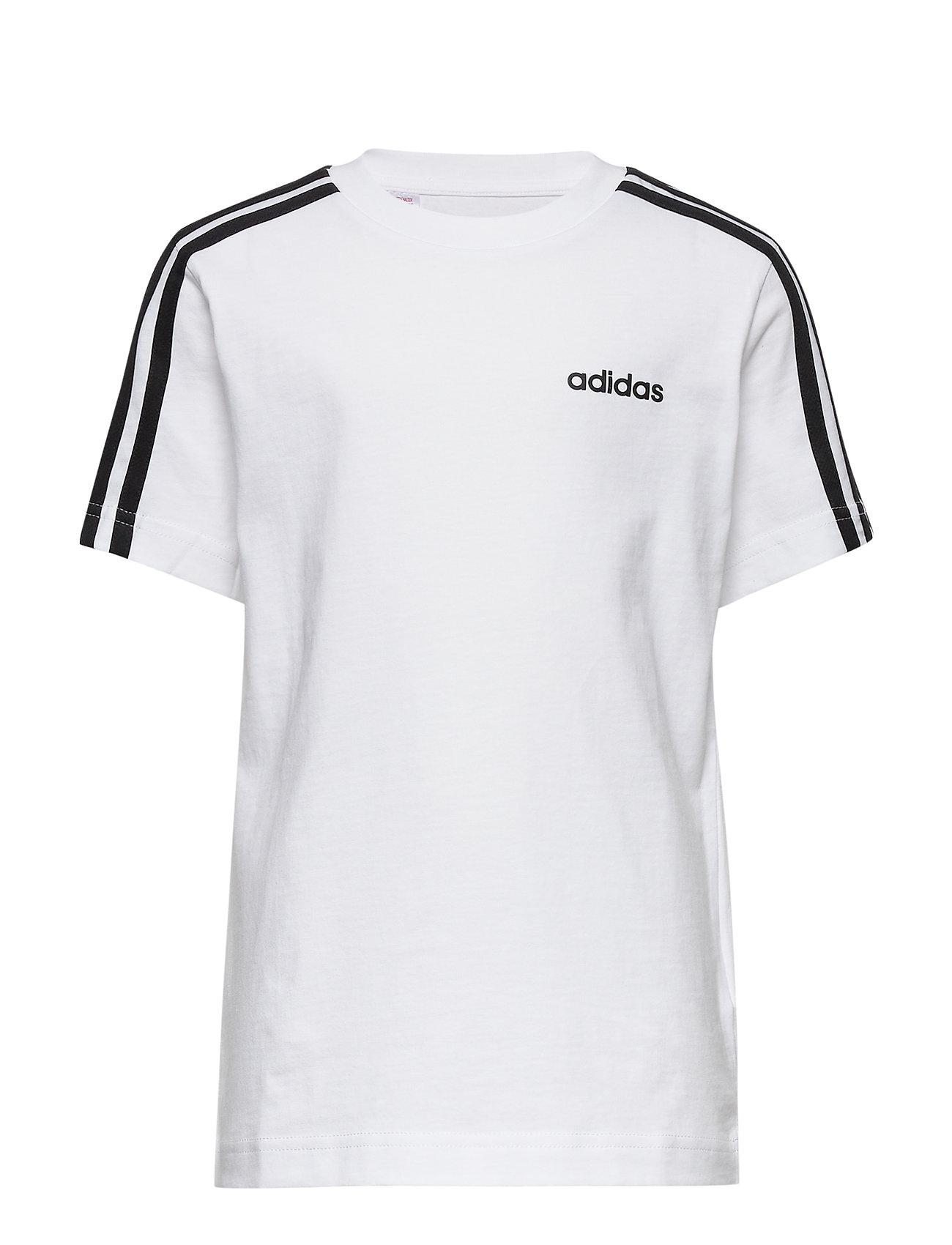 adidas Performance YB E 3S TEE - WHITE/BLACK