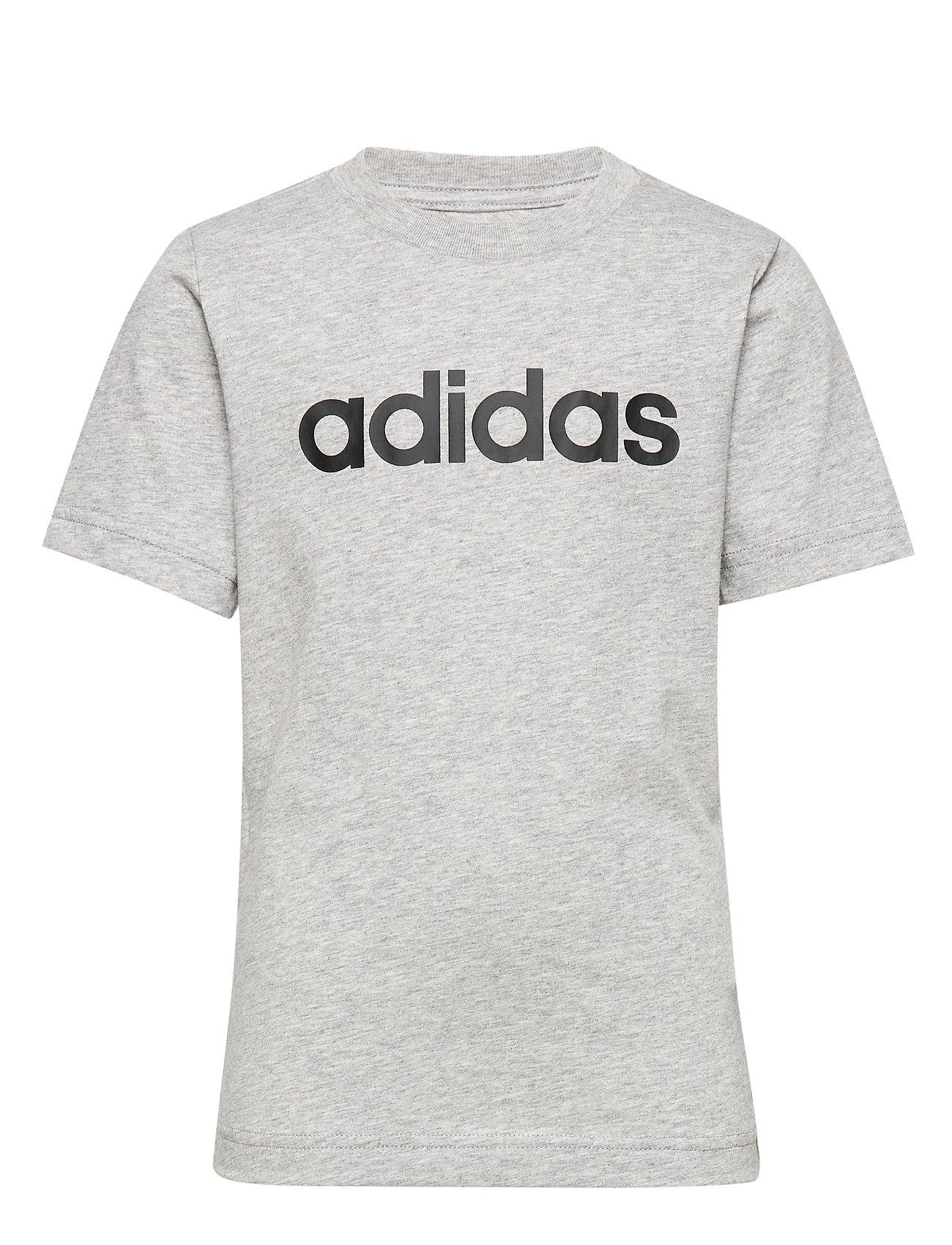 adidas Performance YB E LIN TEE - MGREYH/BLACK