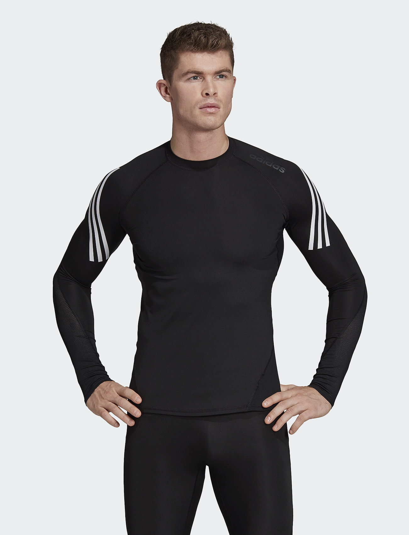 adidas Performance - ASK SPR LS 3S - langarmshirts - black - 0