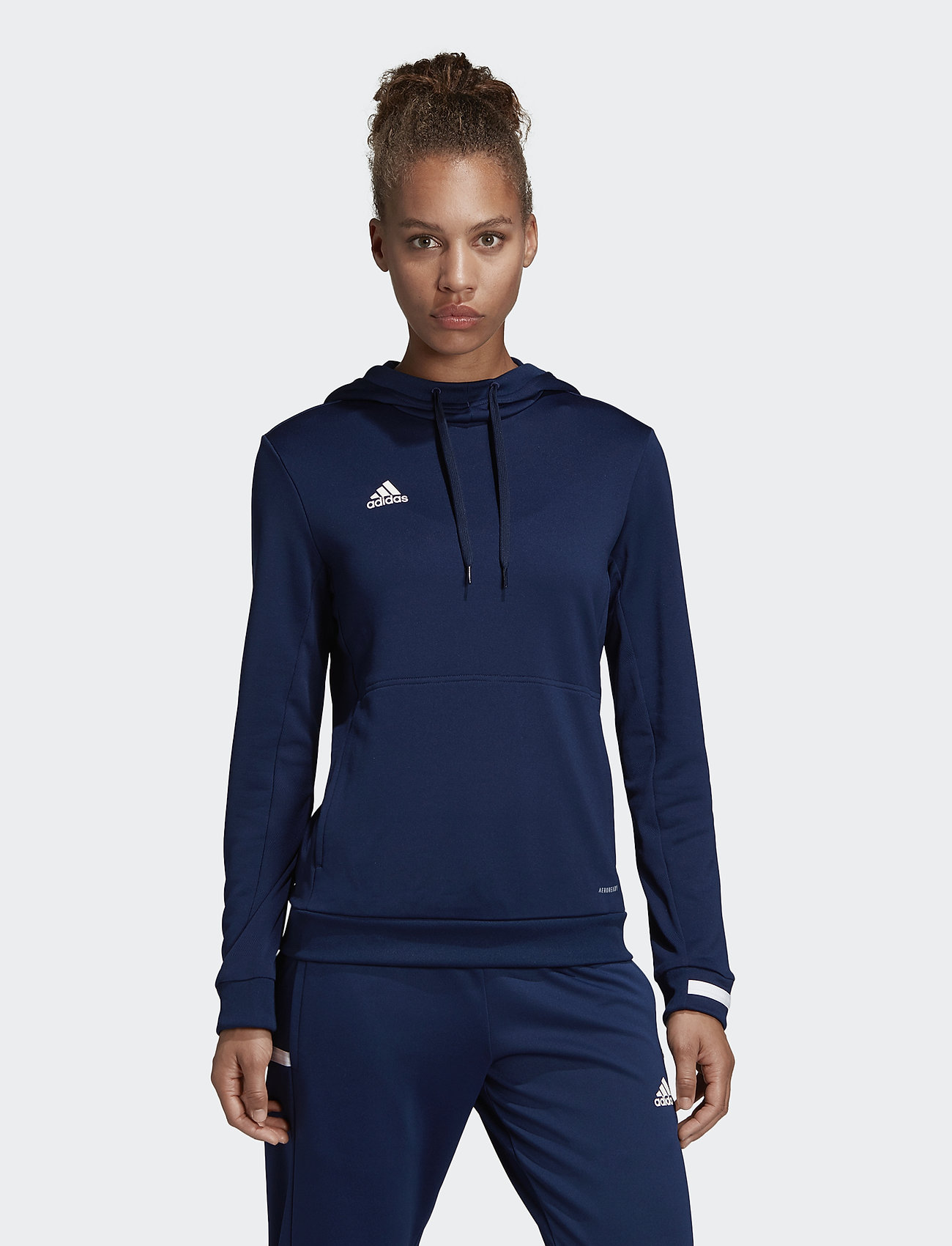adidas Performance - Team 19 Hoodie W - hættetrøjer - navblu/white - 0
