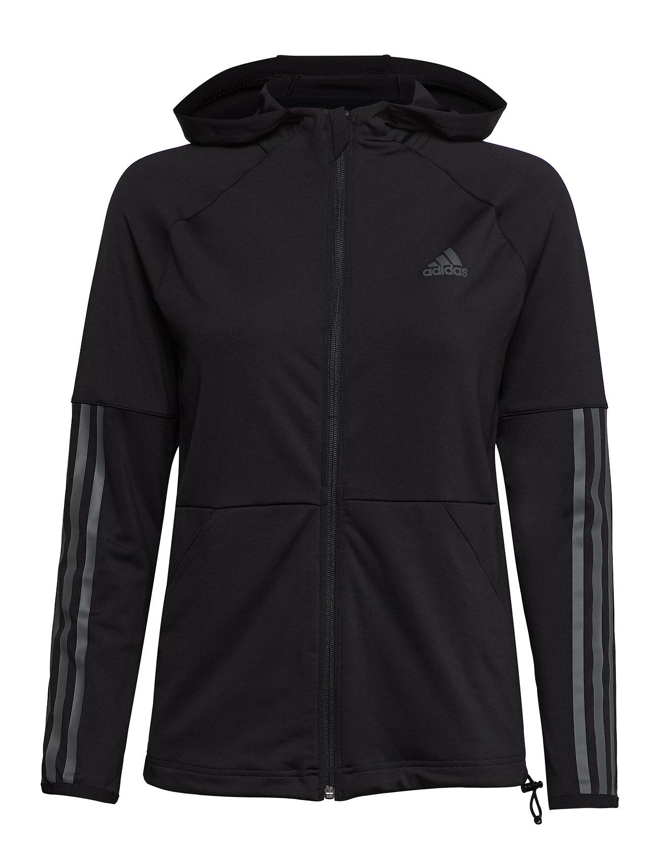 adidas Performance 3S FZ HOODIE - BLACK