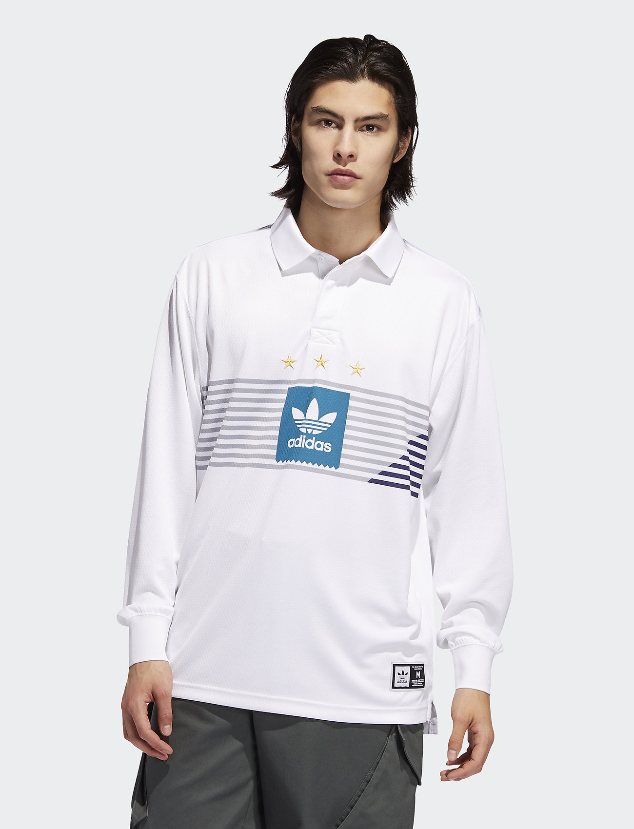 adidas Performance - ELVTD LS RUGBY - paidat - white/gretwo/acttea/c - 0