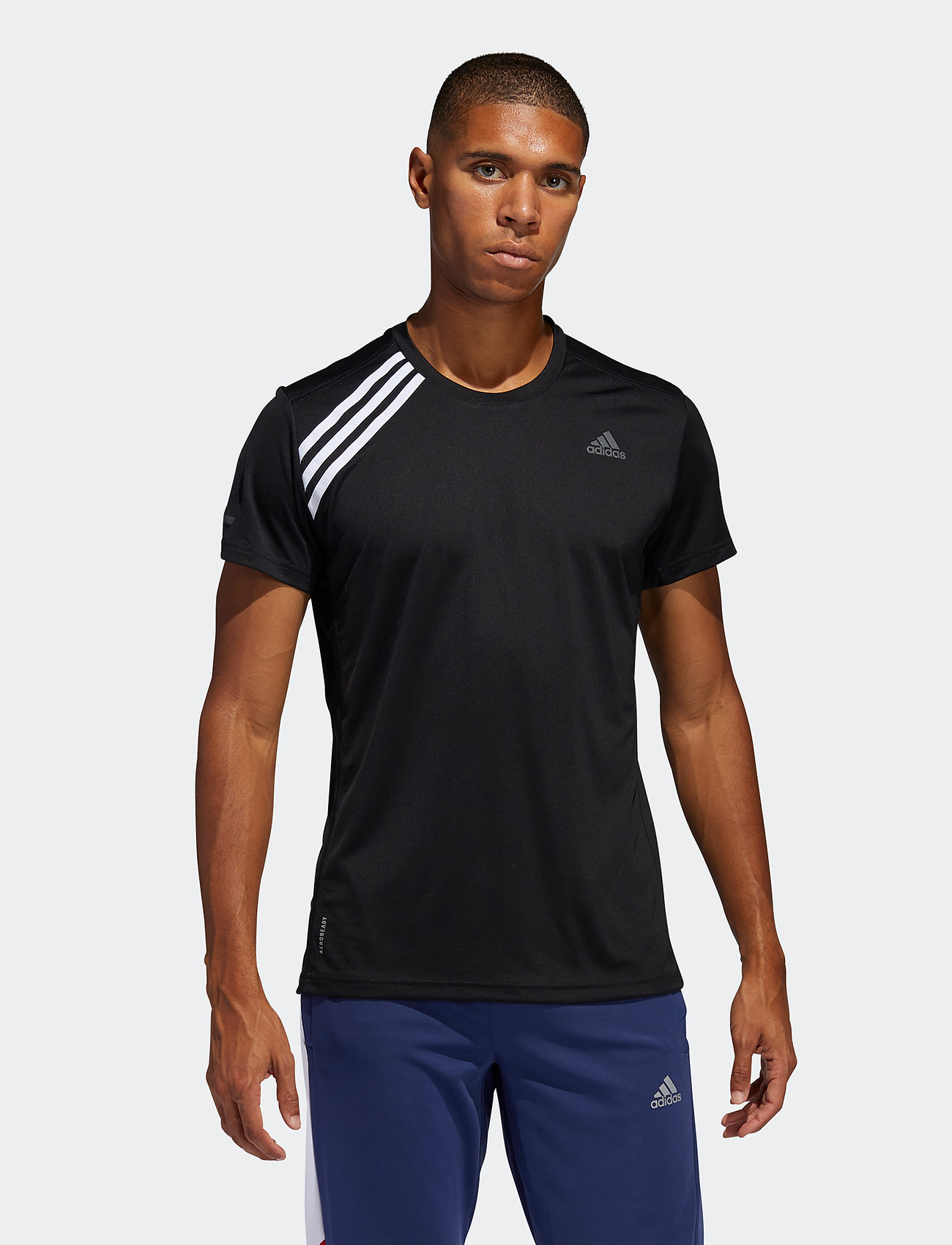 adidas Performance - Run It 3-Stripes T-Shirt - sportoberteile - black/white - 0