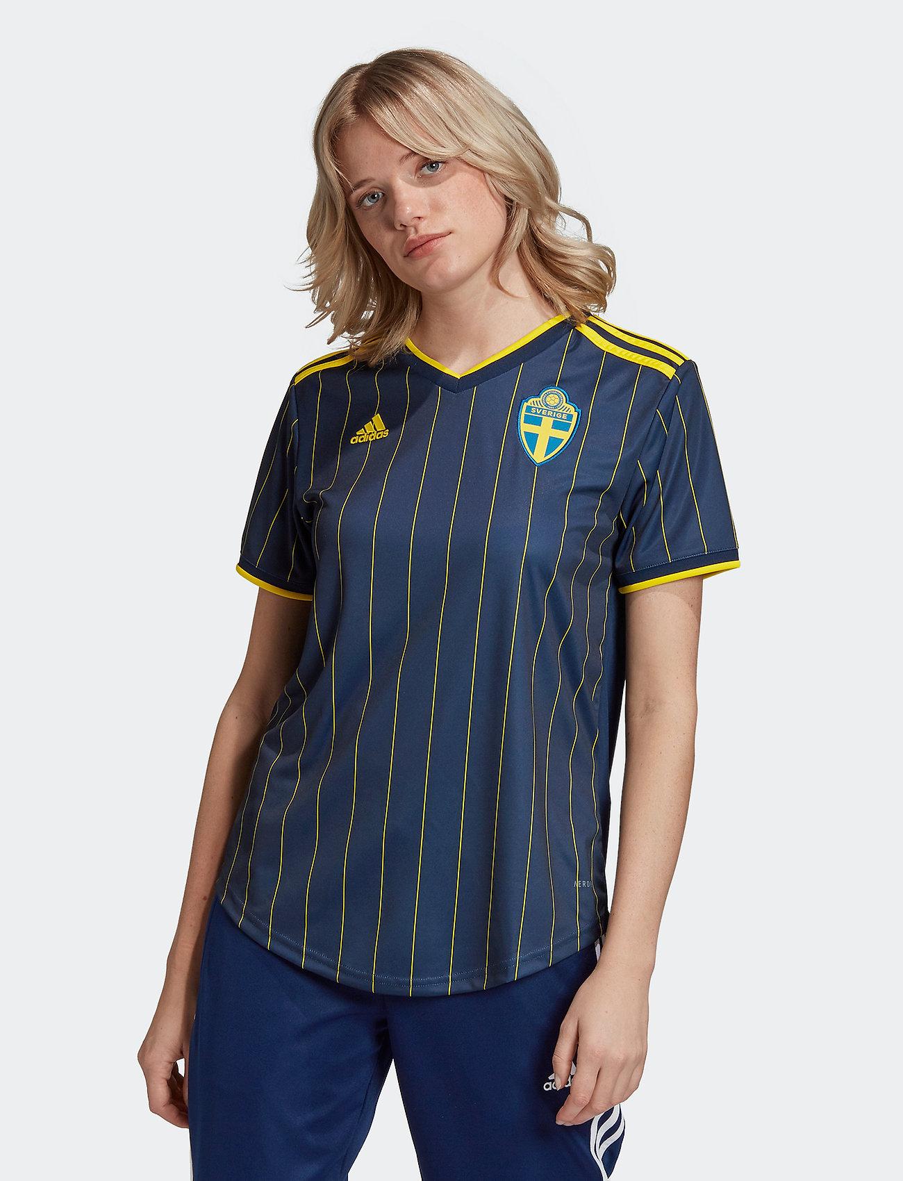 adidas Performance - Sweden 20/21 Away Jersey W - football shirts - nindig/yellow - 0