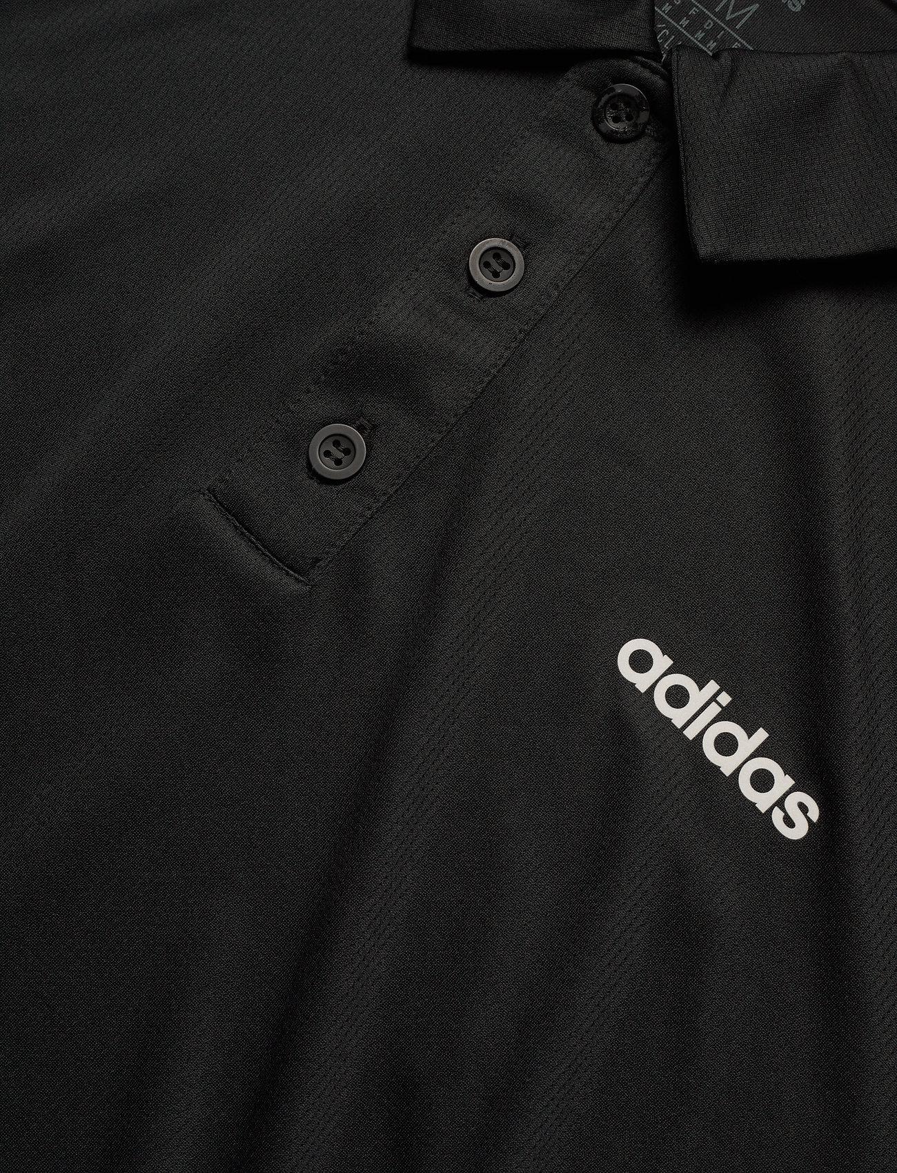 adidas Performance M D2M 3S PO - Poloskjorter BLACK/WHITE - Menn Klær