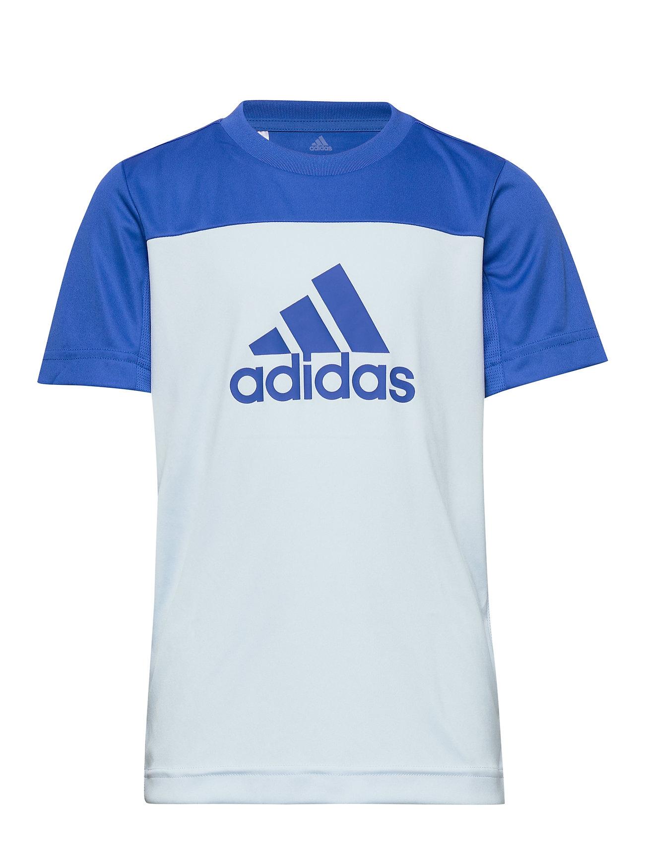 Image of Yb Tr Eq Tee T-shirt Blå Adidas Performance (3421206627)