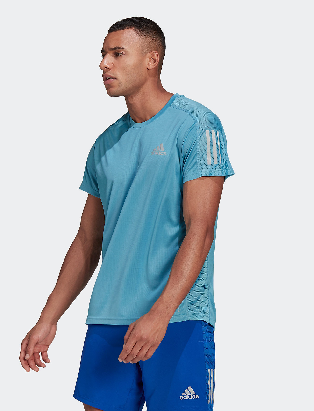 adidas Performance - Own The Run T-Shirt - sportoberteile - hazblu - 0