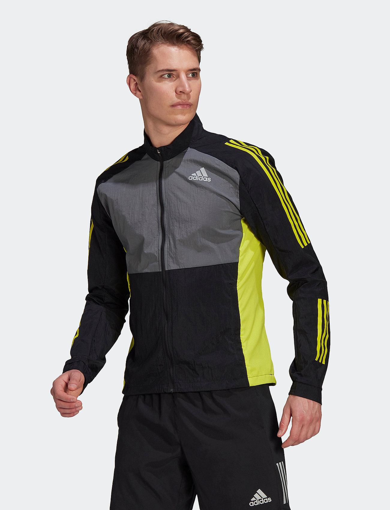 adidas Performance - Track Jacket - sportsjakker - black/grefiv/aciyel - 0
