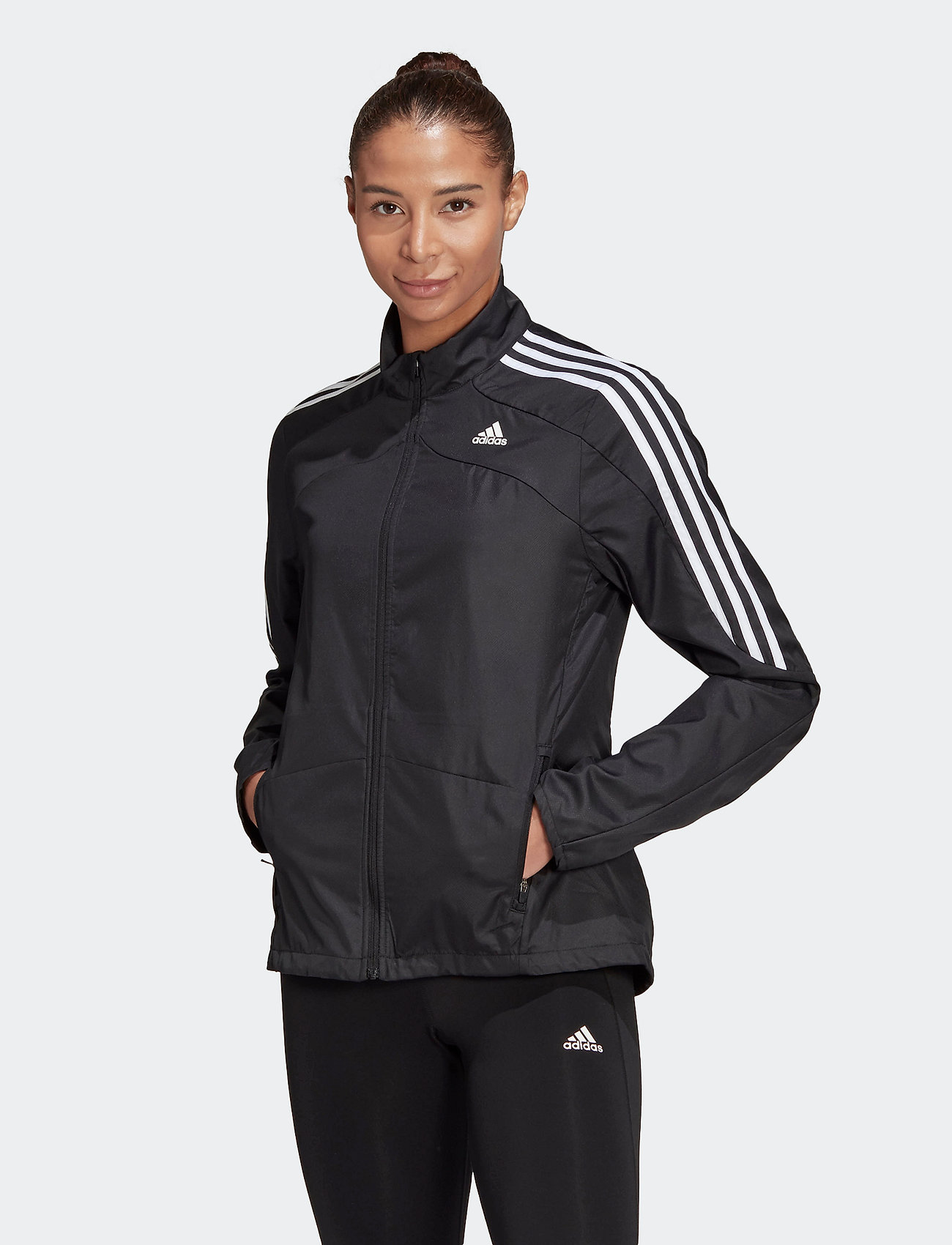 adidas Performance - Marathon 3-Stripes Jacket W - training jackets - black - 0