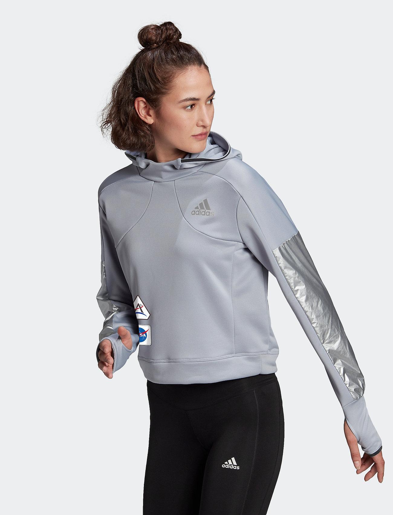 adidas Performance - Space Race Hoodie W - hoodies - halsil - 0