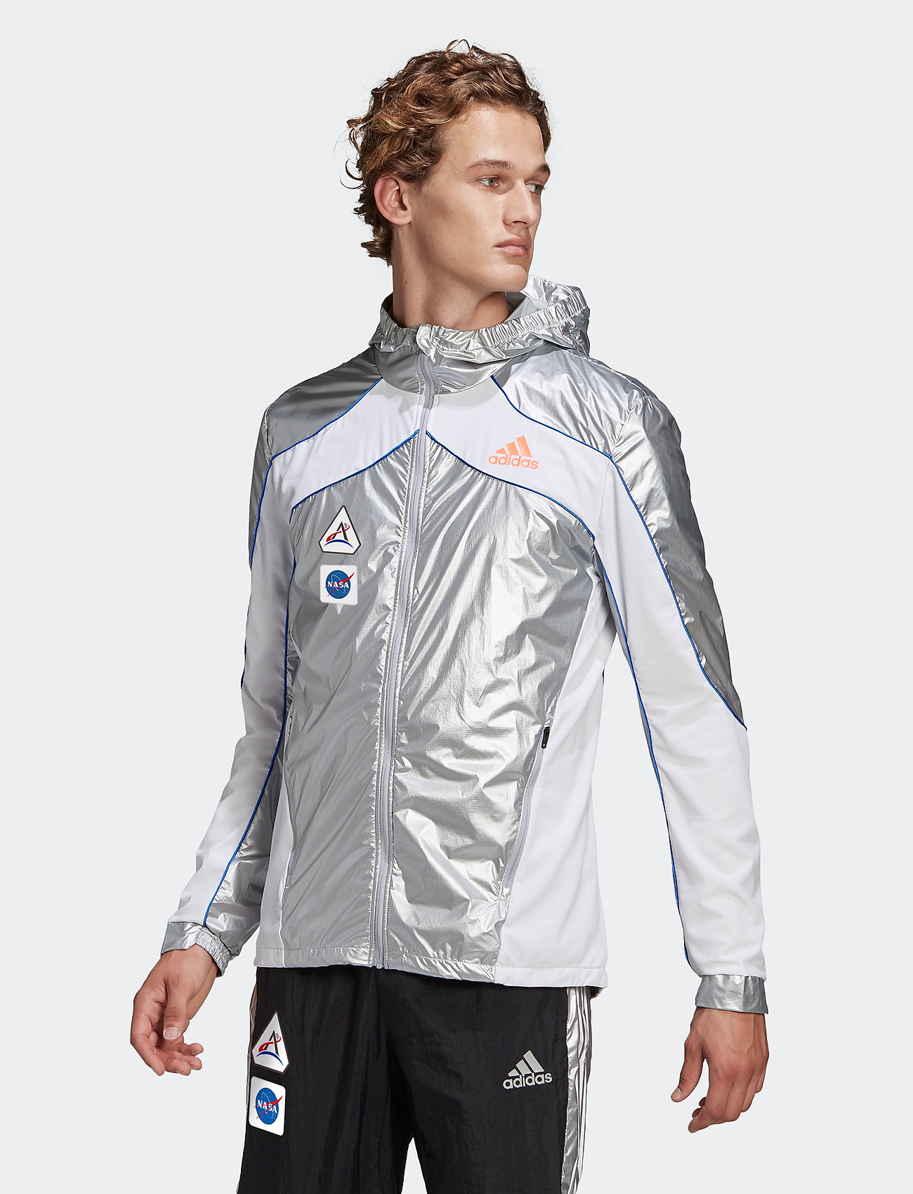 adidas Performance - Marathon Space Race Jacket - sportsjakker - msilve/white - 0