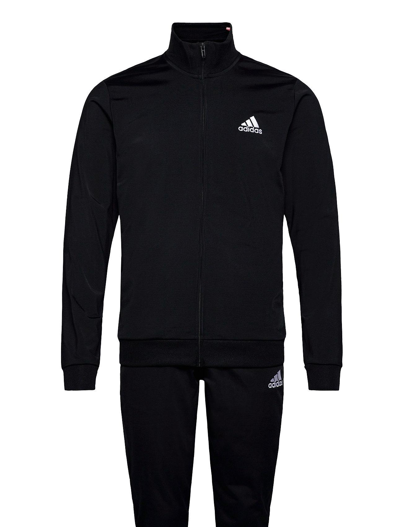Primegreen Essentials Small Logo Track Suit Sweatshirts & Hoodies Tracksuits - SETS Sort Adidas Performance